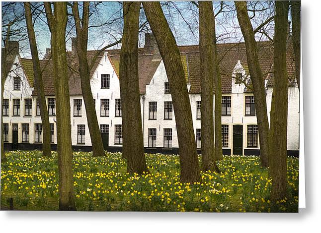 Bruges Greeting Cards - Beguinage of Bruges Greeting Card by Juli Scalzi