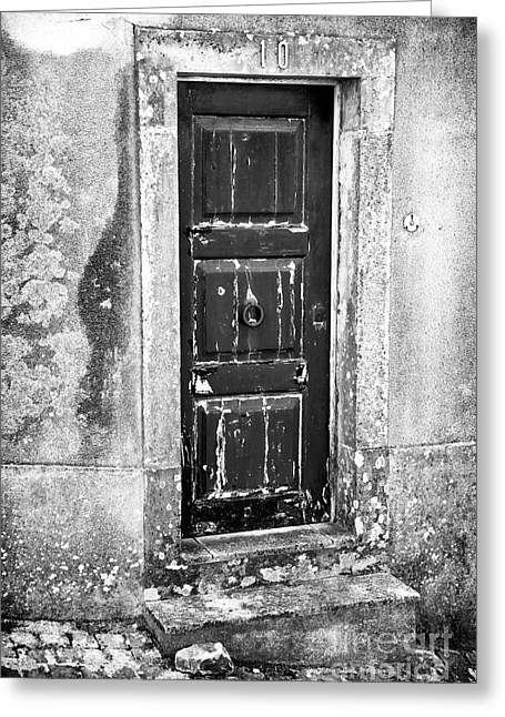 Behind Door 10 Greeting Card by John Rizzuto