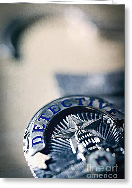 Police Officer Greeting Cards - Behind the Badge Greeting Card by Trish Mistric