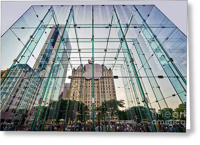 Consumer Greeting Cards - Behind The Big Apple Greeting Card by Ray Warren