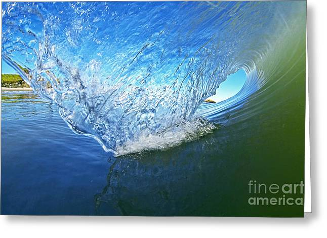 Santa Cruz Surfing Greeting Cards - Behind the Blue Curtain Greeting Card by Paul Topp