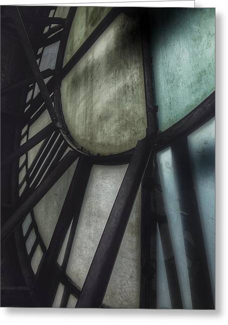 Metalwork Greeting Cards - Behind the Clock - Emerson Bromo-Seltzer Tower Greeting Card by Marianna Mills
