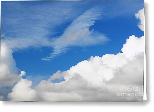 Susan Wiedmann Greeting Cards - Behind the Clouds Greeting Card by Susan Wiedmann