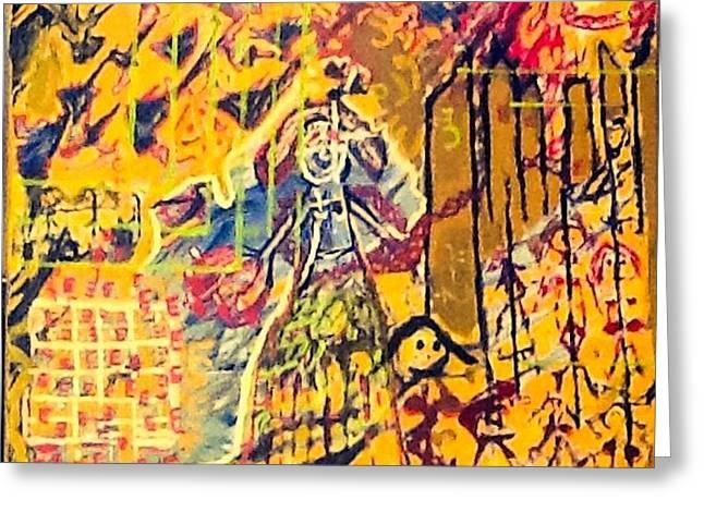 Painted In Paris Greeting Cards - Behind the colors of my sisters. Greeting Card by Astrid Van dan Boogaart