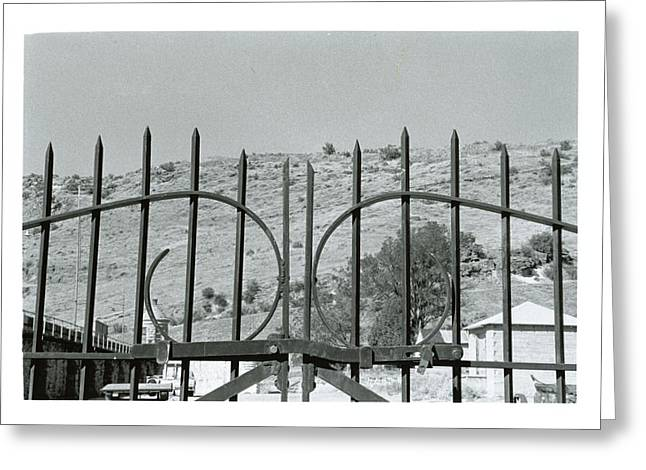 Pearly Gates Greeting Cards - Behind The Gate Greeting Card by Dawn Burke
