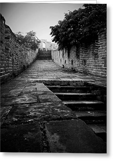 Wonders Of Nature Greeting Cards - Behind the Great Wall of China Greeting Card by Levi Fraser