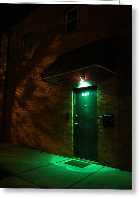 Guy Ricketts Photography Greeting Cards - Behind the Green Door Greeting Card by Guy Ricketts