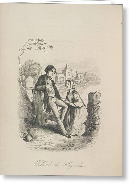 Behind The Hay-ricks Greeting Card by British Library