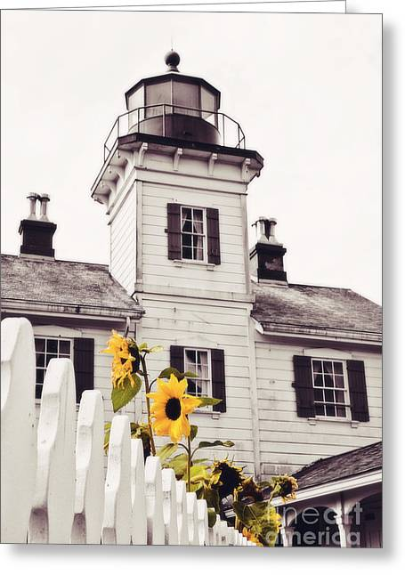 Yaquina Bay Lighthouse Greeting Cards - Behind the Lighthouse  Greeting Card by Scott Pellegrin
