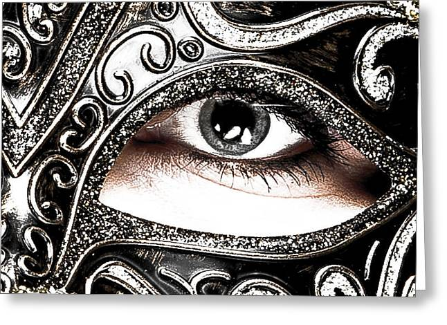Caucasion Greeting Cards - Behind the mask Greeting Card by Carl Goodwin