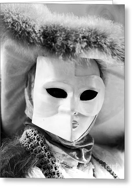 Celebration Art Print Greeting Cards - Behind the Mask Greeting Card by John Rizzuto