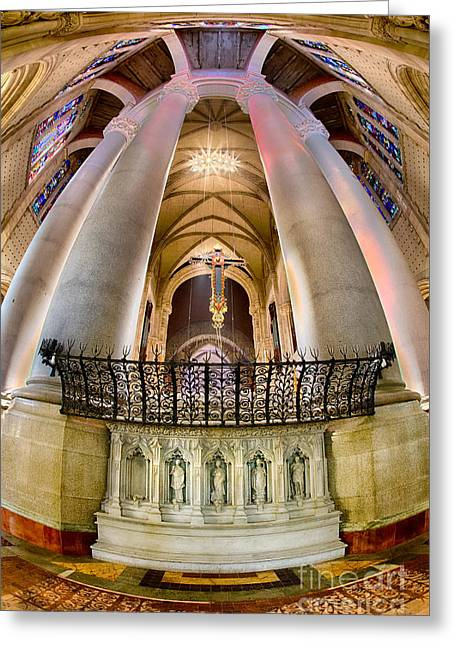 The Vault Digital Greeting Cards - Behind the Sanctuary St John the Divine Greeting Card by Jerry Fornarotto