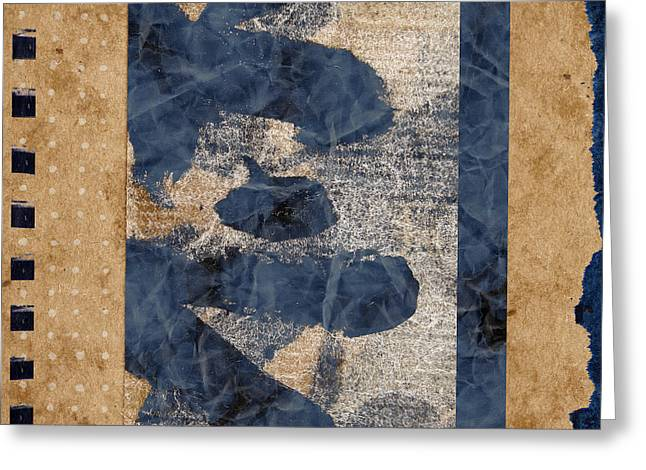 Sepia Mixed Media Greeting Cards - Behind the Screen Greeting Card by Carol Leigh