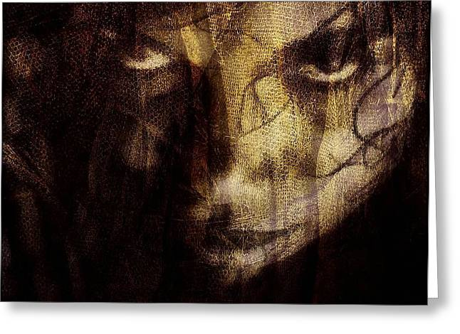 Behind the veil Greeting Card by Gun Legler