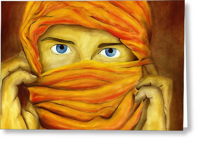 Burkas Greeting Cards - Behind the Veil Greeting Card by Hakon Soreide