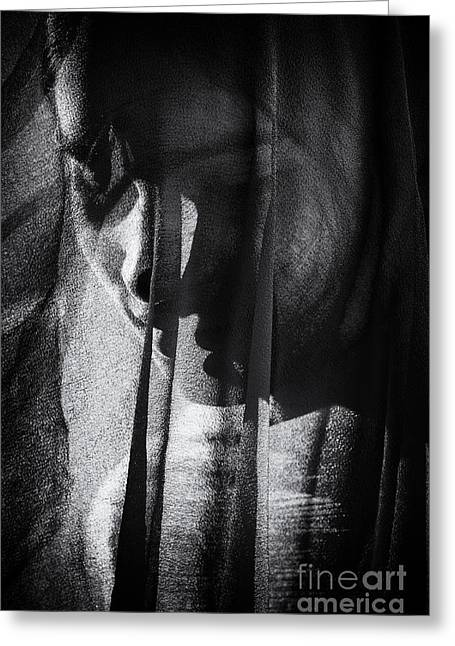 Behind The Veil Greeting Card by Tim Gainey