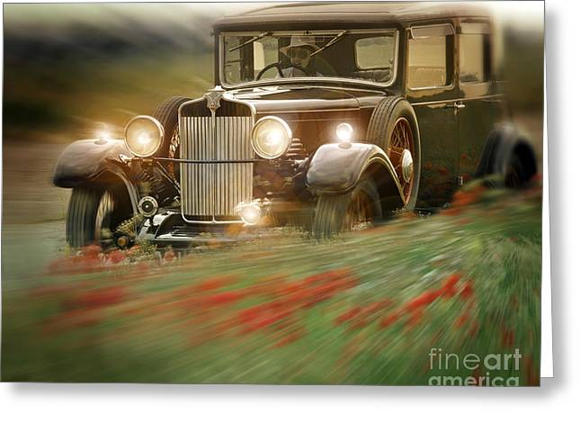 Owner Digital Greeting Cards - Behind the Wheel Greeting Card by Edmund Nagele