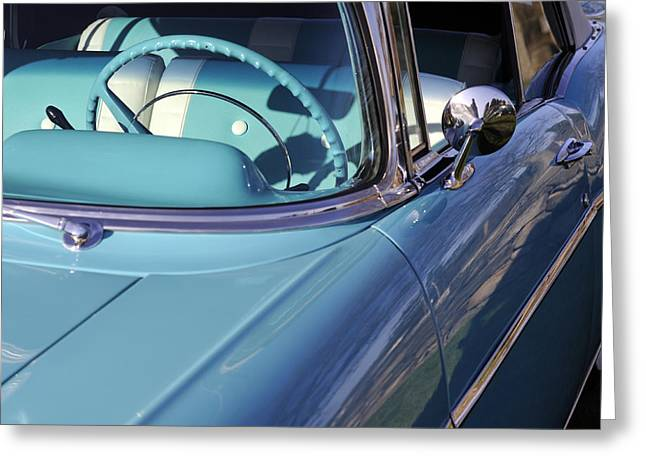 Custom Mirror Greeting Cards - Behind the Wheel Greeting Card by Luke Moore
