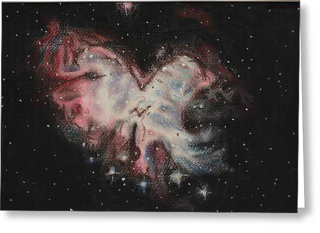 Astronomy Pastels Greeting Cards - Behold the eagles womb Greeting Card by Vanessa Sancho
