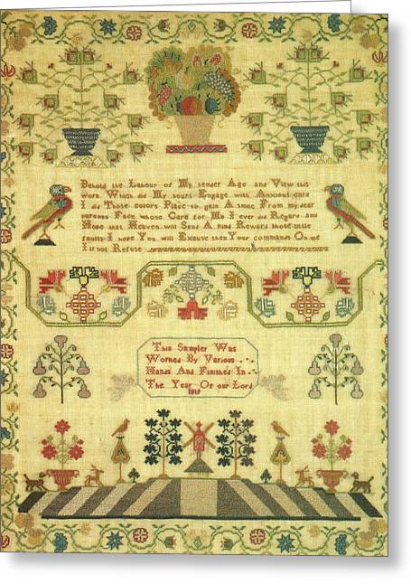Cities Tapestries - Textiles Greeting Cards - Behold The Labour Greeting Card by Artist Unknown