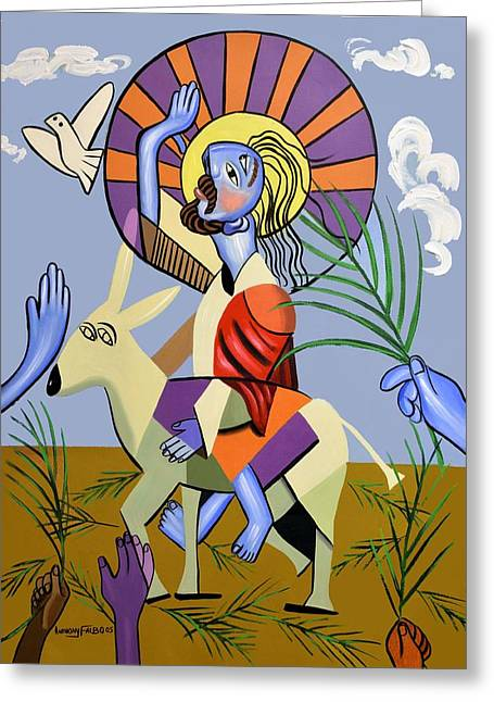 Behold The Lamb Of God Greeting Card by Anthony Falbo