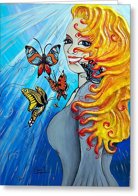 Butterflies Reliefs Greeting Cards - Behold the New Has Come Greeting Card by Ohso Faboolus