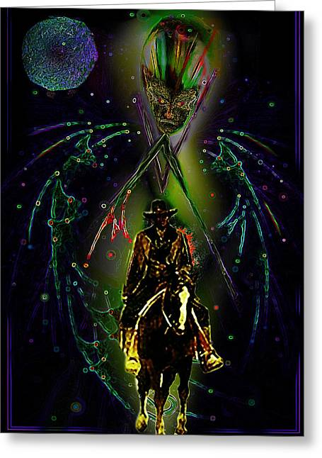 Pale Rider Greeting Cards - Behold the Pale Rider  Greeting Card by Hartmut Jager
