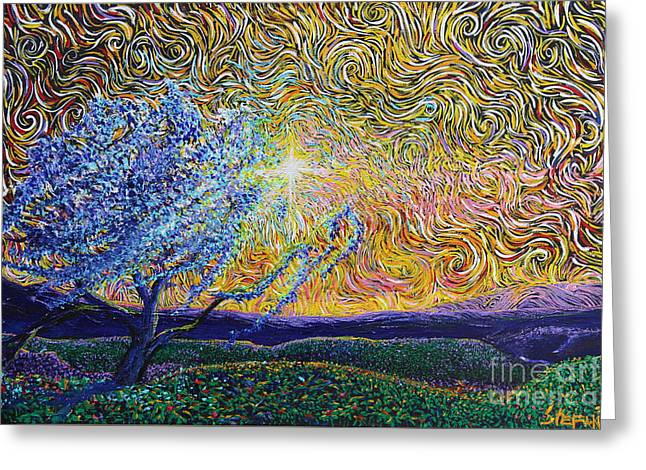 Van Gogh Influence Greeting Cards - Beholding The Dream Greeting Card by Stefan Duncan