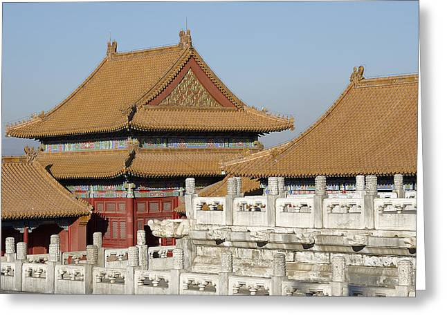 Historic Site Greeting Cards - Beijing China - The Forbidden City Greeting Card by Brendan Reals