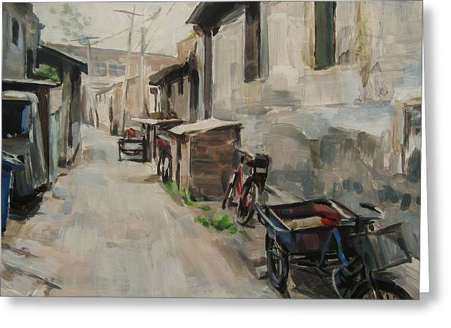 Hutong Greeting Cards - Beijing Hutong Greeting Card by Annie Salness