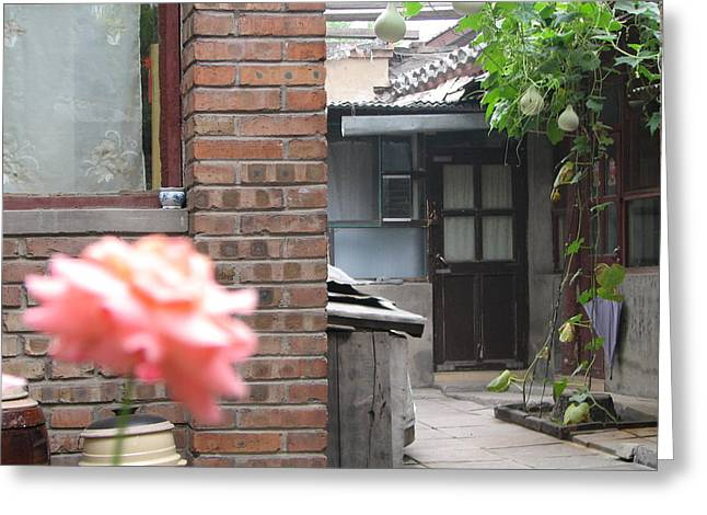 Hutong Greeting Cards - Beijing Hutong Greeting Card by Kara Morrison