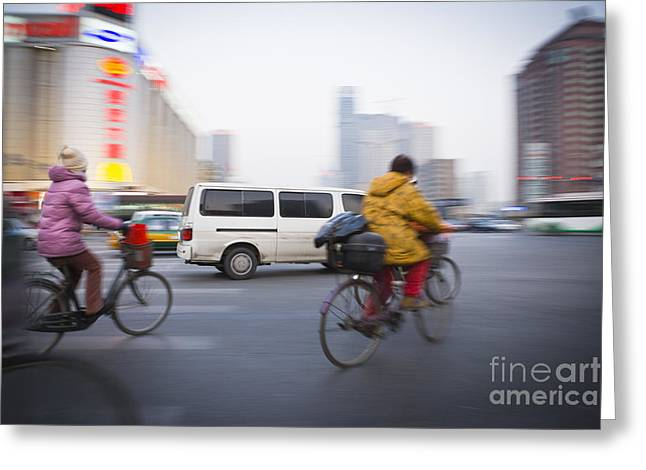 Only Mid Adult Men Greeting Cards - Beijing Greeting Card by Juan  Silva