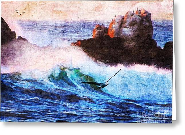 Pacific Ocean Prints Greeting Cards - Being Temperamental Greeting Card by Lianne Schneider