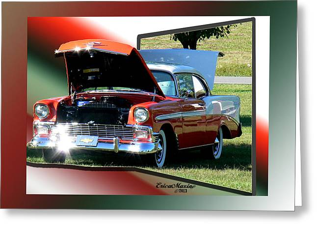 Oof Greeting Cards - Bel Air 1950s-Featured in Manufactured Items Group Greeting Card by EricaMaxine  Price