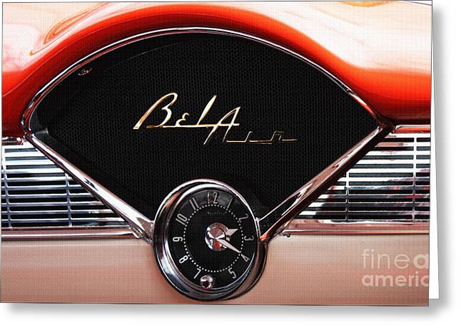 Shower Head Greeting Cards - Bel Air Beauty - Vintage American Car in Red and Chrome Greeting Card by ArtyZen Studios - ArtyZen Home