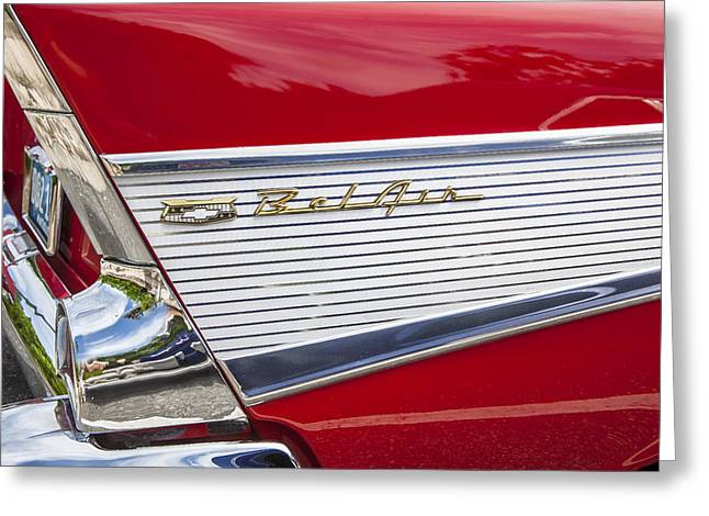 Car Racer Greeting Cards - Bel Air Beauty Greeting Card by Rich Franco