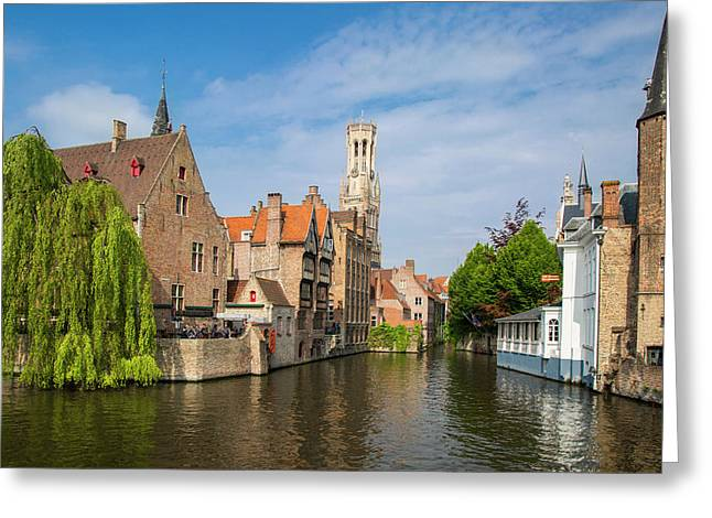 Belfry Of Bruges Towers Greeting Card by Brian Jannsen