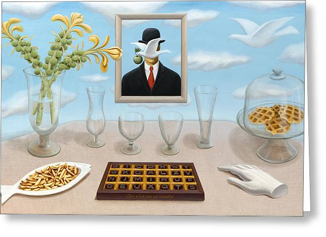 French Fries Paintings Greeting Cards - Belgian clarity with slight inclusions Greeting Card by Boris Giulian