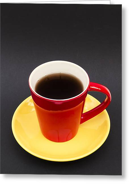 Cup Photographs Greeting Cards - Belgian Cup of Coffee Greeting Card by Wim Lanclus