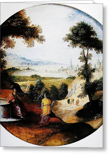Constable Greeting Cards - Belgium Belgian Abel Grimmer The Samaritan woman art Greeting Card by MotionAge Designs