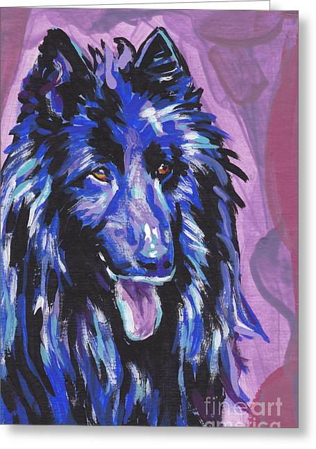 Sheepdog Greeting Cards - Belgium Born Greeting Card by Lea