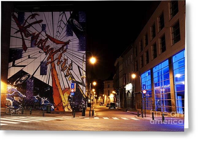 Belgian Comic Strip Art Greeting Cards - Belgium Street Art Greeting Card by Juli Scalzi