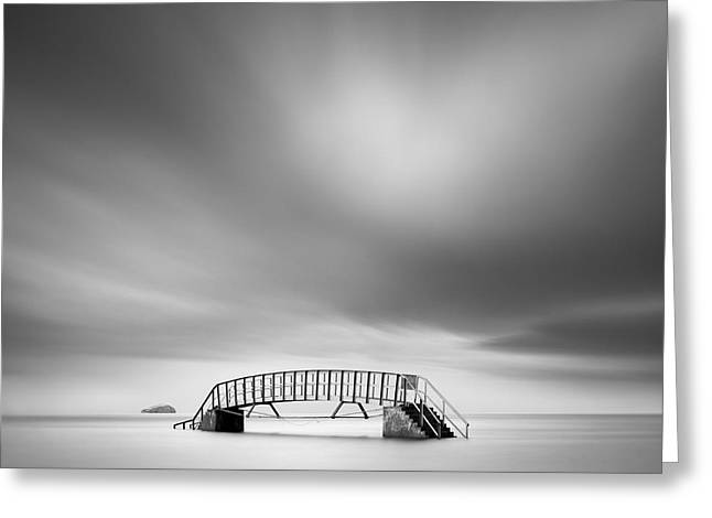 Landmark And Bridges Greeting Cards - Belhaven Bridge Greeting Card by Dave Bowman