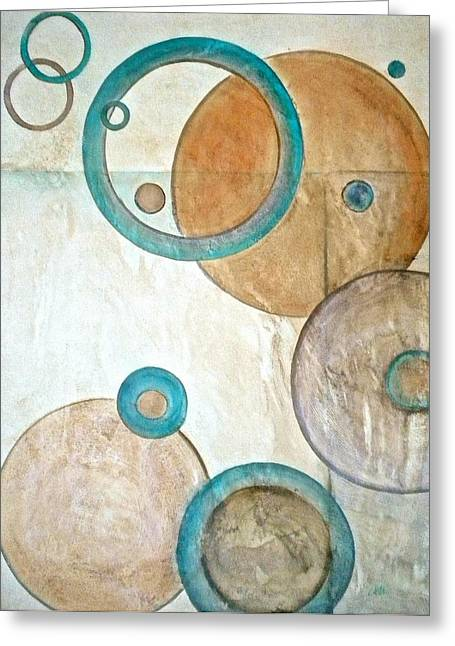 Spheres Mixed Media Greeting Cards - Belief in Circles Greeting Card by Debi Starr