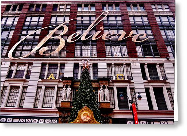 Macys Greeting Cards - Believe Greeting Card by Benjamin Yeager
