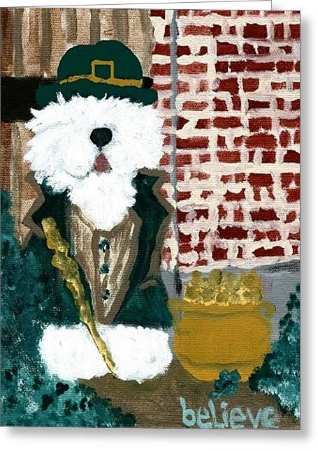 Oes Greeting Cards - Believe Greeting Card by Cathy Howard