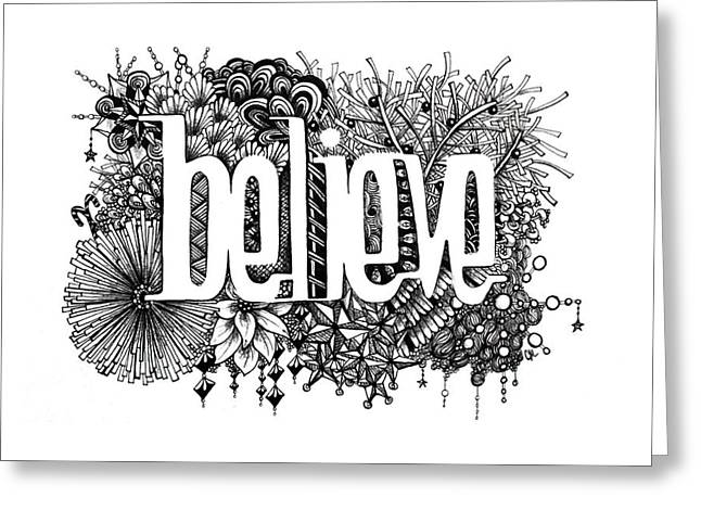 Believe Greeting Card by Christina Meeusen