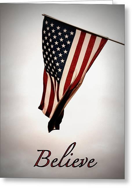 Believe In America Greeting Card by Avis  Noelle