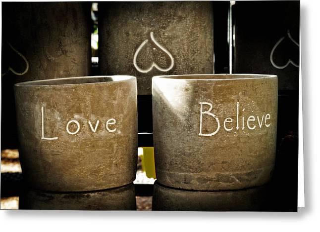 Believe In Love - Photography By William Patrick And Sharon Cummings Greeting Card by Sharon Cummings