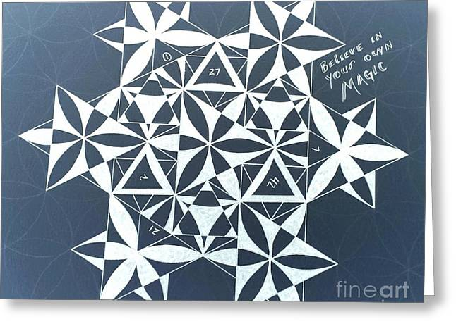 Sacred Drawings Greeting Cards - Believe in your own Magic #13 Greeting Card by Christopher Grant
